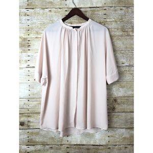 🔸Zara Basic Light Pink Button oversized Blouse